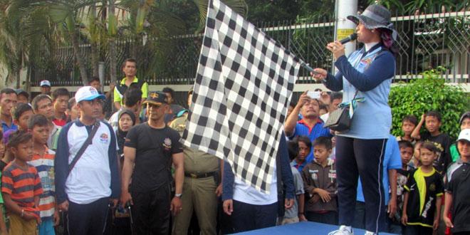 Dandim 0712/Tegal Menghadiri Jalan Sehat HUT Kota Tegal