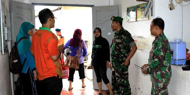 Dandim 0735/Surakarta Meninjau Lokasi Korban Banjir