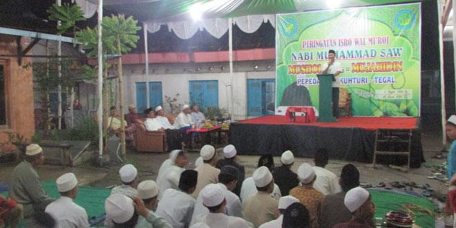 Dandim 0712/Tegal Menghadiri Acara Pengajian Dalam Rangka Isro Wal Mi'roj Nabi Muhammad Saw di Musholla Al-Mujahidin Desa Pepedan