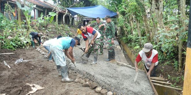 Kodim 0713/Brebes Laksanakan Pra TMMD Sengkuyung I Tahun 2015 di Desa Kalijurang Tonjong