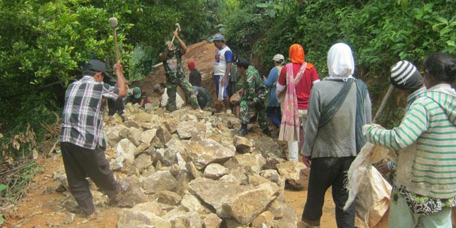 Giat Pra TMMD di Desa Ngambarsari