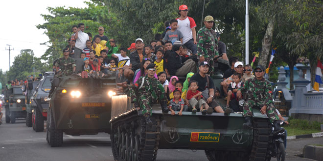 Konvoi Leopard Membelah Kota Purwokerto