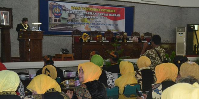 Pabung Kodim 0712/Tegal Mengikuti Rapat Paripurna Istimewa DPRD Kabupaten Tegal