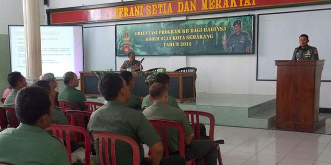 Babinsa Kodim 0733 Kota Semarang Dibekali Program KB