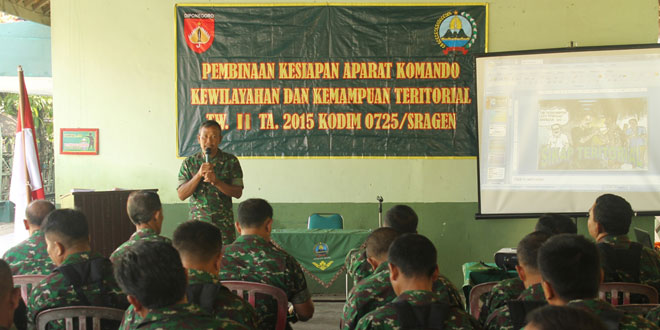 Pembinaan Kesiapan Kewilayahan dan Kemampuan Teritorial Prajurit Kodim 0725/Sragen