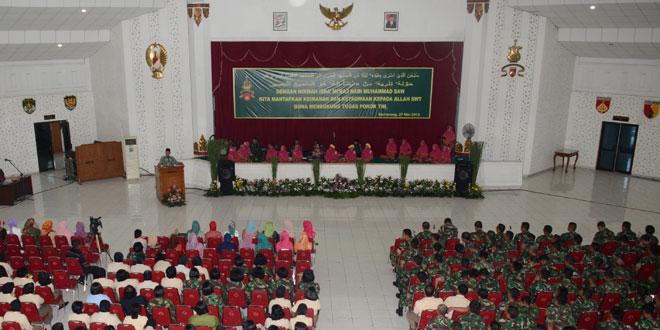 Anggota TNI Se Garnisun Semarang Ikuti Peringatan Isra' Mi'raj