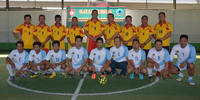 Olah Raga Bersama (Futsal) Korem 072/Pmk Dengan Wartawan
