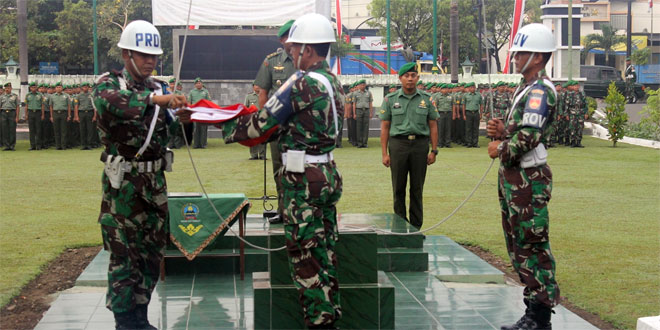 Kodim 0725/Sragen Gelar Upacara Bendera Minggu Pertama Bulan Juni 2015