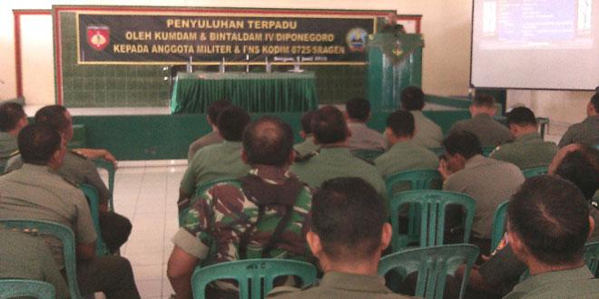 Penyuluhan Hukum Dilanjutkan Pembinaan Mental Anggota Kodim 0725/Sragen