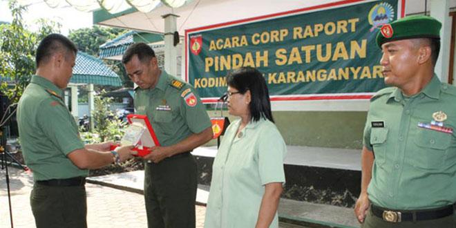 Koprs Raport MPP dan  Pindah Satuan Kodim 0727/Karanganyar