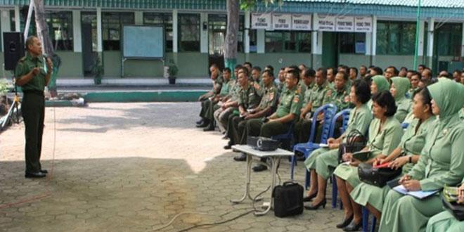 Penyuluhan Hukum Terpadu dan Bintal Bagi Prajurit, PNS TNI AD Kodim 0727/Karanganyar