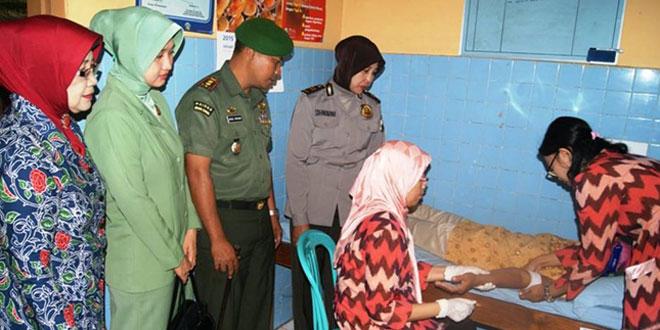 Pencanangan Bhakti Sosial TNI – KB Kesehatan  Kodim 0721/Blora