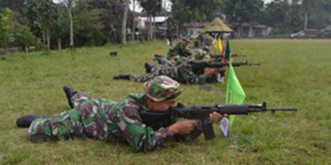 Kodim Latihan Menembak Bersama Dengan Rutan Wonosobo