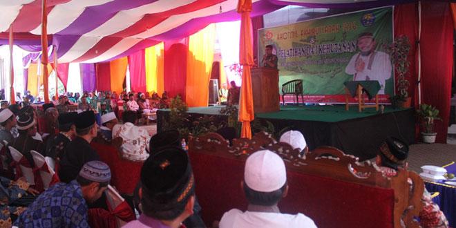 Dandim 0713/Brebes Menghadiri Khotmil Akhirussannah dan Pembukaan Pelatihan Da'i Kehutanan Ponpes Ta'allumul Huda