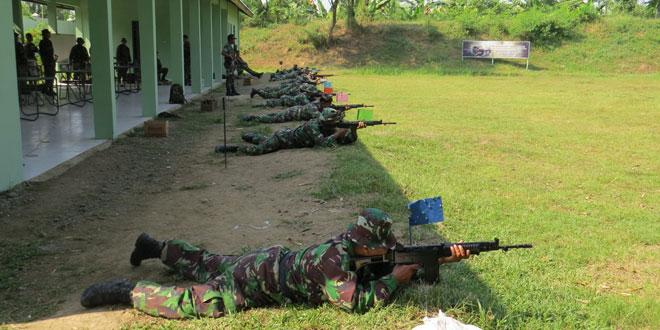 Kodim 0713/Brebes Laksanakan Latihan Menembak