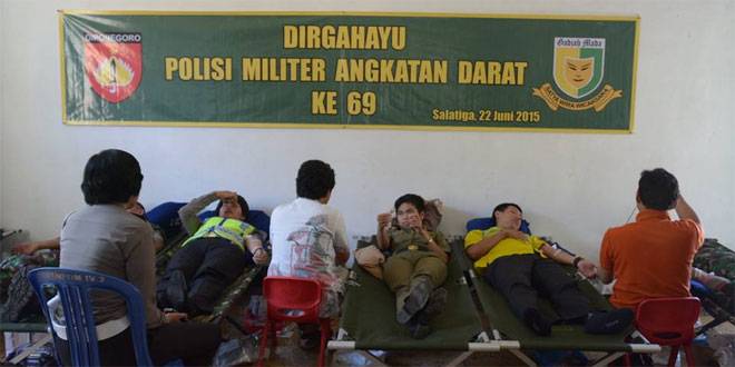 Donor Darah Meriahkan HUT POM 69