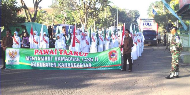 Pawai Taaruf Menyambut Ramadhan 1436 H/2015 M Kabupaten Karanganyar
