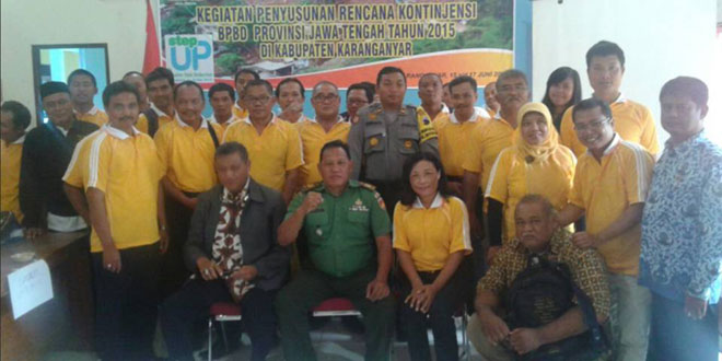 Penyusunan Rencana Kontijensi BPBD Provinsi Jawa Tengah Tahun 2015