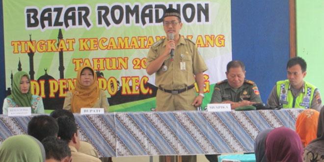 Danramil 08/Talang Menghadiri Kegiatan Bazar Romadhan di Wilayah Kecamatan Talang