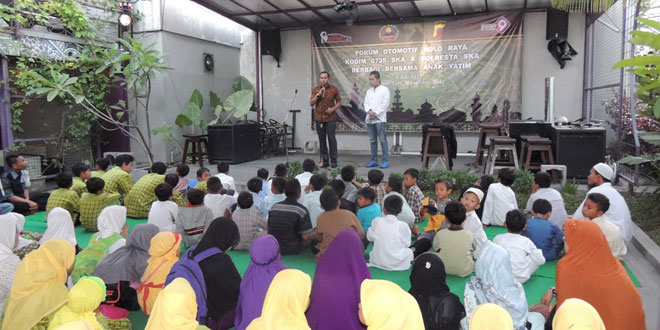 Dandim 0735/Surakarta Buka Puasa Bersama FOSR dan Anak Yatim Piatu