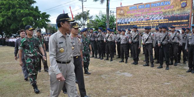 Danrem 072/Pmk Hadiri Apel Gelar Pasukan Operasi Ketupat Progo 2015