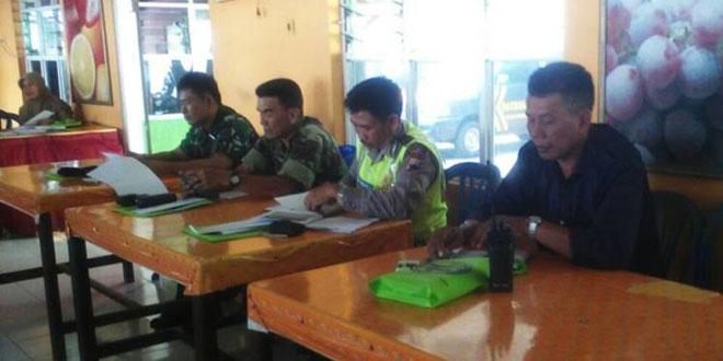 Rakor Pengamanan di Pendopo Kecamatan Jatinegara