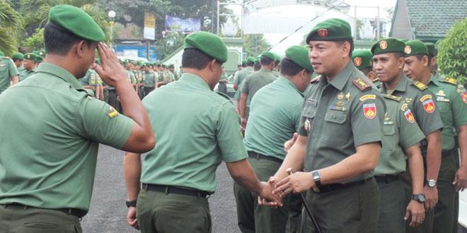 Kodim 0701/Bms Gelar Apel Kelengkapan Dilanjutkan Silaturahmi