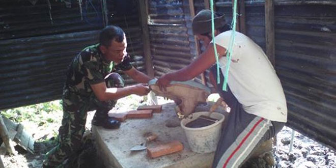 Koramil 01/Demak Kota Laksanakan Jambanisasi Bagi Masyarakat