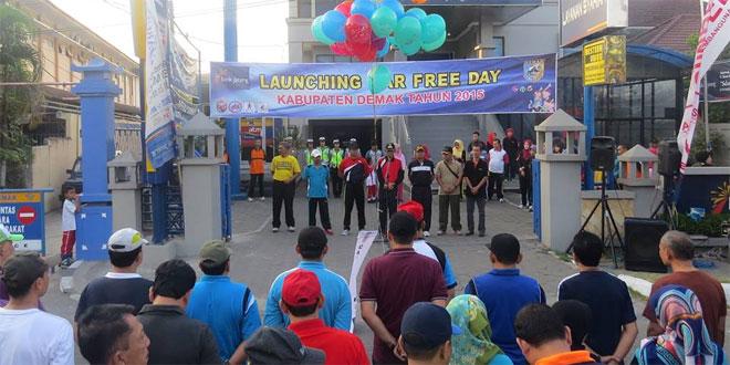 Dandim 0716/Demak Hadiri Launching Car Free Day