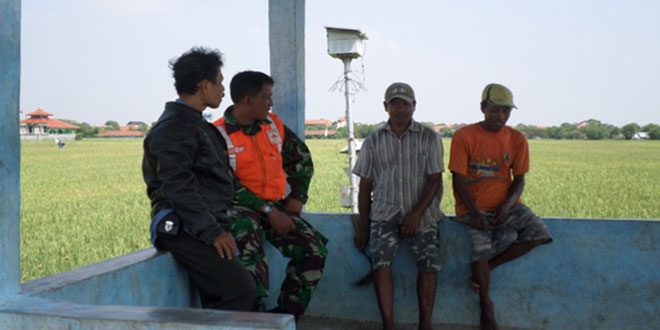 Koramil 01/Tegal Barat Bersama PPL Survei Tanaman Padi