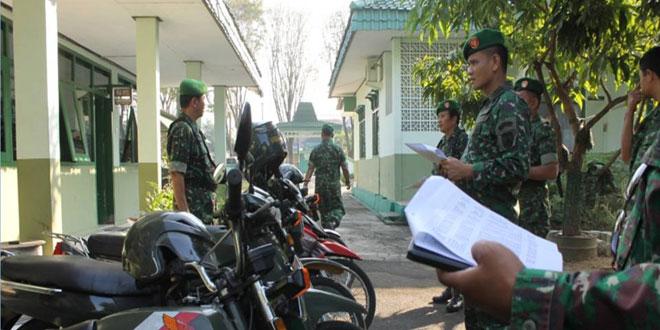 Pengecekan Kendaraan Dinas Prajurit Kodim 0727/Karanganyar