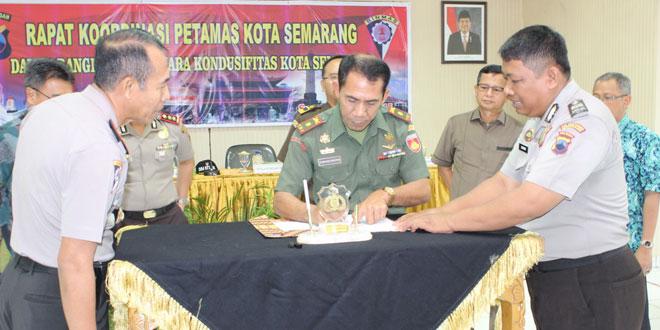 Kodim 0733 Kota Semarang Ikut Serta Dalam MoU Rakor Petamas