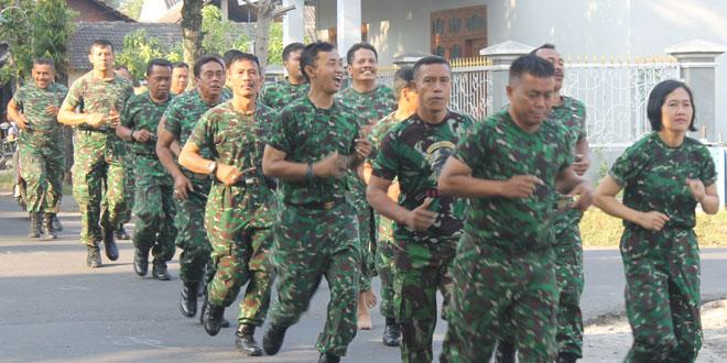 Minggu Militer di Kodim 0725/Sragen Laksanakan Lari 5 Km