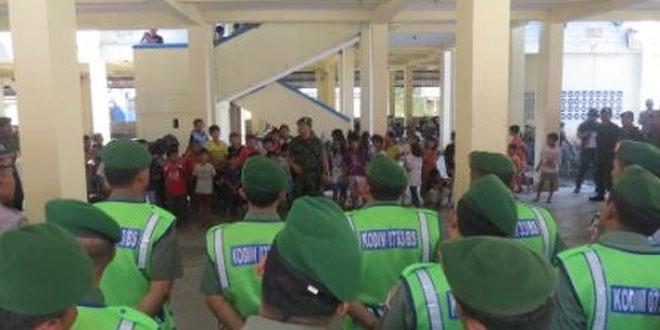 Kodim 0716/Demak Gladi Pengaman Presiden di Bandar Harjo Semarang