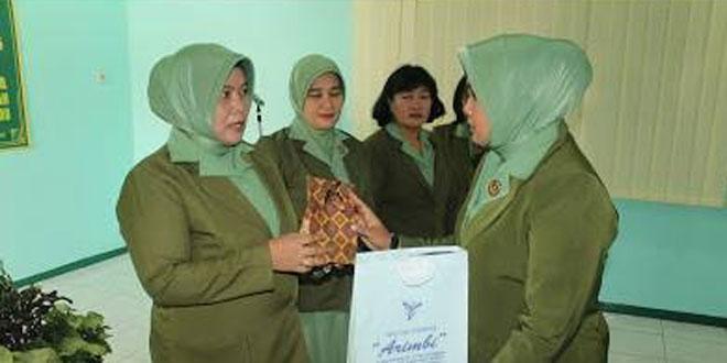 Penyerahan Tugas dan Tanggungjawab Jabatan Wakil Ketua Persit KCK Cab. XLVI Kodim 0725/Sragen