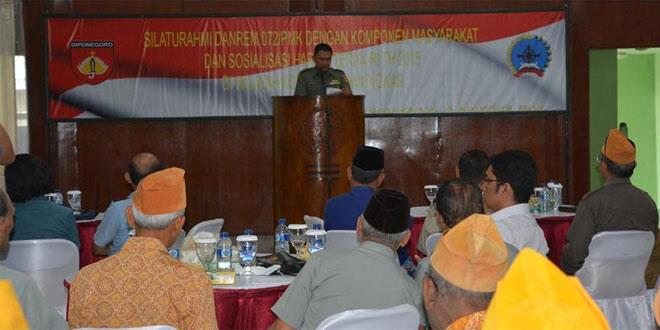 Korem 072/Pmk Pererat Silaturahmi dengan Komponen Masyarakat