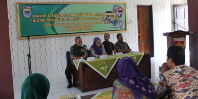 Rakor & Sosialisasi Pengembangan Jaringan Irigasi Mendukung Upsus Pajale