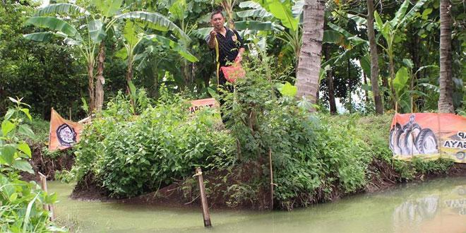 Koramil 12 Tembalang Kodim 0733 Kota Semarang Manfaatkan Lahan Kosong untuk Kolam Ikan