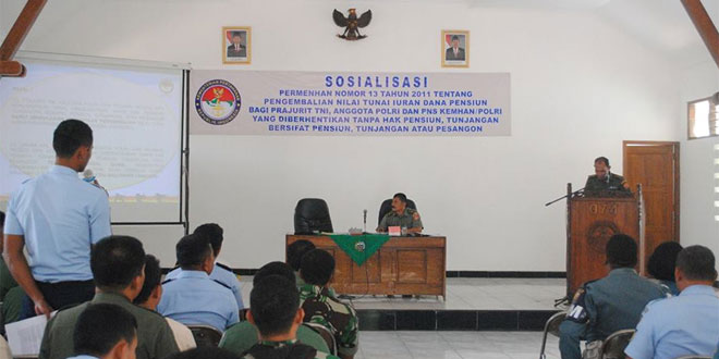 Sosialisasi Permenhan No 13 Tahun 2011 di Makorem 074/Warastratama