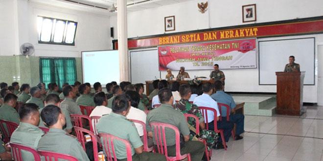 Ratusan Prajurit TNI Dibekali Pelatihan Tenaga Kesehatan KB
