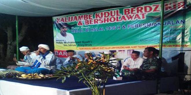 Babinsa Koramil-18/Kalijambe Hadiri Pengajian Akbar di Masjid At Taqwa Desa Krikilan