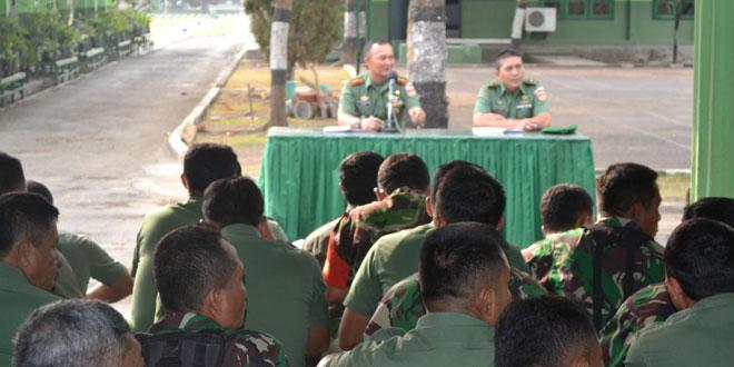 Kodim Tegal Upacara Bendera dan Dilanjutkan Jam Komandan