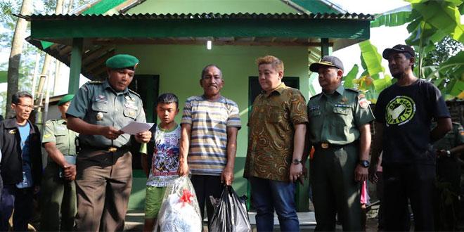 Bantuan Rumah dari Danrem 071/WK kepada Keluarga Narsun