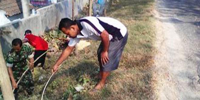 Koramil-11/Jenar Laksanakan Pembersihan Lingkungan Bersama Masyarakat
