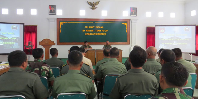 Kunjungan Tim Wasrik Itdam IV/Diponegoro di Kodim 0713/Brebes