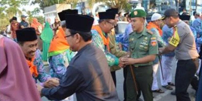 Dandim Hadiri Pemberangkatan Jama'ah Calon Haji Kabupaten Boyolali