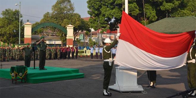 Korem 073 Laksanakan Upacara Bendera