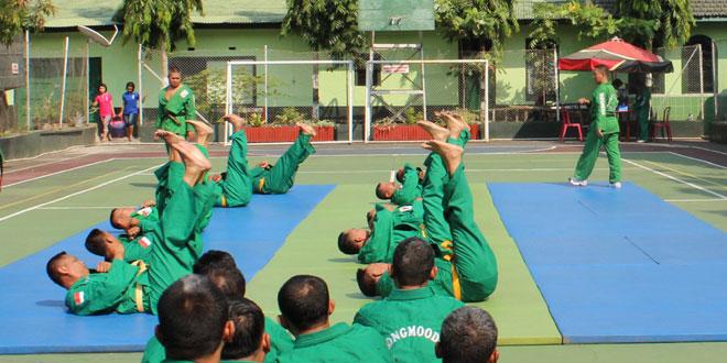 Kodim 0733 Kota Semarang Laksanakan Uji Kenaikan Tingkat Beladiri Yongmoodo