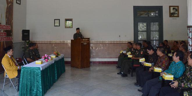 Danrem 071/WK Bersama Civitas Akademika Unsoed Silaturahmi Keluarga Pangsar Jenderal Soedirman