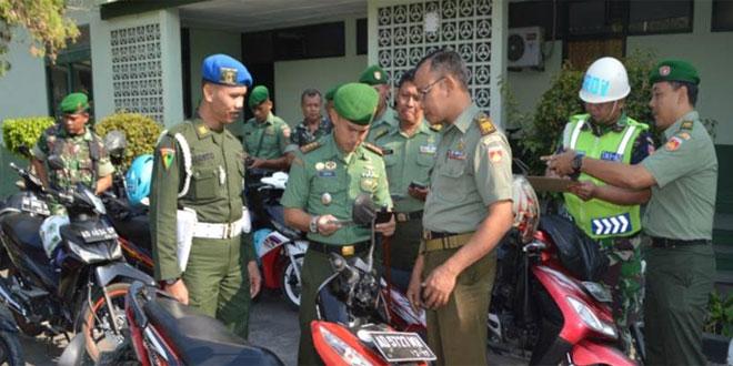 Kodim 0724/Boyolali Cek Kelengkapan Kendaraan Anggota